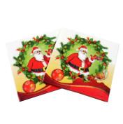 21x Da.Wa Double Layer Paper Napkins Paper Santa Claus Shape Patten Napkins Tissues for Xmas Engagement Party Tableware