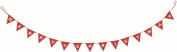 2.1m Merry Christmas Red Fabric Bunting Party Room Garland Decoration