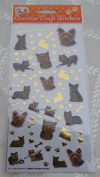 DOG BREED CRAFT STICKERS - YORKSHIRE TERRIER - FOR SCRAPBOOKING, CARD CRAFT ETC