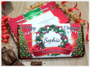 Personalised Merry Christmas Chocolate Bar ~ 114g Galaxy Xmas Girls Boys Mum Dad Stocking Fillers Gift Ideas Present for him her N116