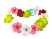 Pack of 50 Mixed Artificial Silk Flower Hawaii Lei Plumeria Frangipani Blooms for Wedding Decor DIY Garland Jewellery Accessories