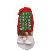 good01 Christmas Advent Calendar Santa Claus Nonwovens Xmas Hanging Decoration