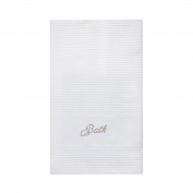 Coin Home 6678430 Embroidery Towel Portofino, 100% Cotton, Cream, 90 x 150 x 0.5 cm