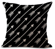 xinyiwei Simple Arrows Cotton Linen Throw Pillow Case Square Decorative Throw Cushion Cover