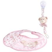 Bib zerotre Lelly with Clip Portasucchietto Pink