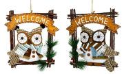 Door Hanger Owl Decoration SCHNEE-EULE - Tina's Collection - The Different Design