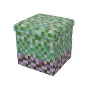 New Pixel Squares Foldable Ottoman Storage Room Toy Box Pouffe Seat Stool
