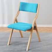 Solid Wooden Folding Chair Simple Modern Home Fabric Dining Chair Desk Chair Backrest Chair Computer Chair Chair