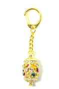 Feng Shui 2018 PRAYER WHEEL KeyChain for SUCCESS, PROSPERITY, PROTECTION