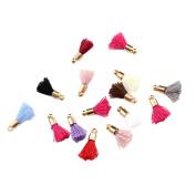Toruiwa Decorative Tassels Cotton Rope Mini Tassel Pendant DIY Handmade Accessories for Keychain Cellphone Straps Bag Jewellery Bracelet Necklace Earring Handicraft Pack of 22 Multicolor