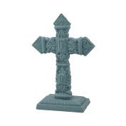 Stonebriar SB-6033A Accents of Faith 17cm Pale Ocean Cast Iron Pedestal Cross