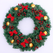 Christmas wreaths door ornaments festive shopping malls decorations