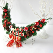 Christmas gift rattan door hanging decoration Christmas Ornaments