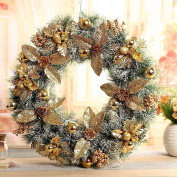 Christmas wreaths door ornaments window layout hotel shopping malls decorations 50cm
