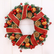 Christmas wreath handmade hotel window door ornaments Christmas decorations