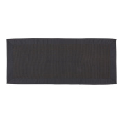 Coin Home 495944 Kitchen Rug Ribbed Zefiro, 100% Cotton, Dark Grey, 220 x 50 x 0.5 cm
