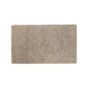 Coin Home 6677029 Rug Bath Linen Thermae, Cotton Blend, Dark Beige, 60 x 100 x 0.5 cm