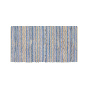 Coin Home 493769 Kitchen Rug and Jute Striped, Cotton, Blue, 50 x 180 x 0.5 cm