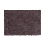 Coin Home 6681596 Microfibre Bath Mat Shaggy Zefiro Gold, Polyester, Anthracite Grey, 120 x 70 x 0.5 cm