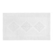 Coin Home 6679726 Bathroom Rug Short Pile Jacquard, 100% Cotton, White, 70 x 120 x 0.5 cm