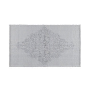 Coin Home 6681878 Bathroom Rug With Embossed Decoration Portofino, 100% Cotton, Grey, 60 x 100 x 0.5 cm