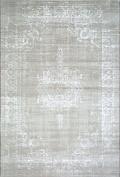 Westco R220864 Medallion Velour Rug, Light Grey, 115 x 170 cm