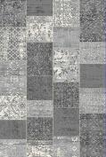 Westco R220863 Velour Rug, Patchwork Grey, 155 x 230 cm