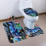 Dolphin Fish Bathroom Three-piece Home Decoration Water Non-slip Bathroom Mats