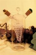 Oil / vinegar bottle 2 in 1, glass