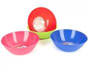 30cm Shiny Round Plastic Salad Bowl serving dish Kitchen Food Blue/Green/Pink/Red