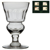 """High-quality Absinthe / Absinth Glass with reservoir - Authentic reproduction of the famous """"Pontarlier"""" Absinthe glass from the 19th century - Handmade and cut glass - The perfect glass for the traditional Absinthe ritual!"""