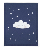 Mamas & Papas Cloud Knitted Blanket, Navy