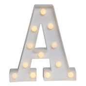 GB UNICORN Wall Letters Light At Symbol Battery Marquee Letter Lights Alphabet Light Up Sign for Wedding Home Party Bar Decoration(White A)