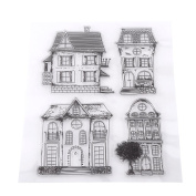 Scrapbook Photo Cards Rubber Stamp Clear Transparent Stamps House DIY Scrapbooking/Card Making/Kids Fun Decoration Supplies