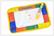 Baby Kid Fun 29*19CM Four-colour Water Drawing Mat Board with Magic Water Pen Doodle Magic Canvas Toy Gift