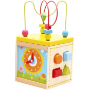Wooden Cube Bead Maze Toy Multi-function Treasure Box Toy Playset