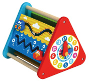 Tooky Toy - Multifunction Activity Centre - Abacus - Learning Clock - Educational Toy for Toddlers