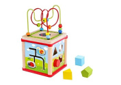Tooky Toy - Wooden Activity Cube - Sorting shapes