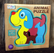 Dog Colourful Wooden Puzzle Traditional Toy Age 3+