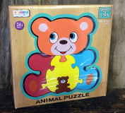 Teddy Bear Animal Puzzle Deluxe Wood Traditional Toy Age 3+