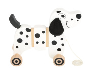 Small Foot 10641 Wooden Toy in The Shape of A Dalmatian, Flexible Connecting Elements for every Movement, Wobbly Ears and Tail