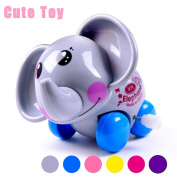 VEMOW Clockwork Funny Toy Cartoon Jumping Elephant Clockwork Car Educational Toys Gift