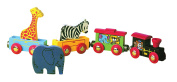 A B Gee HJD93234 Wooden Animal Train Toy