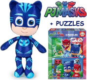 PJ MASKS Plush Cat Boy + Puzzle PJ MASKS