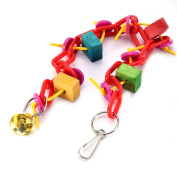 Parrot Hanging Toys Plastic Chain Toys Hand Grabbing Balls for Parrots Climbing and Biting