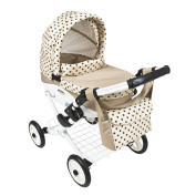 Roma Wynnie Dolls Pram - Coffee Polka