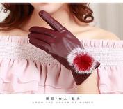 Ms winter gloves, warm touch cute fur ball gloves