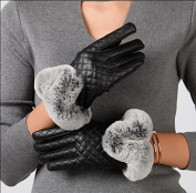 Ladies winter outdoor and plush padded riding gloves warm touch screen gloves
