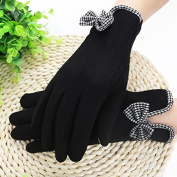 Lady bow down down touchscreen gloves glove