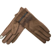 Winter Gloves Suede Touch Screen Plus Keep Warm Gloves , coffee ,